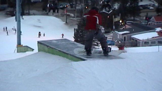 I do a boardslide on a box