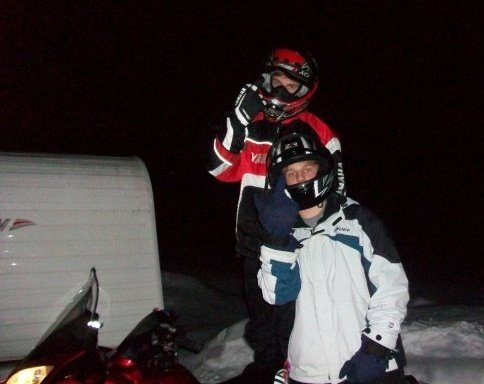 Snowmobiling with Jake
