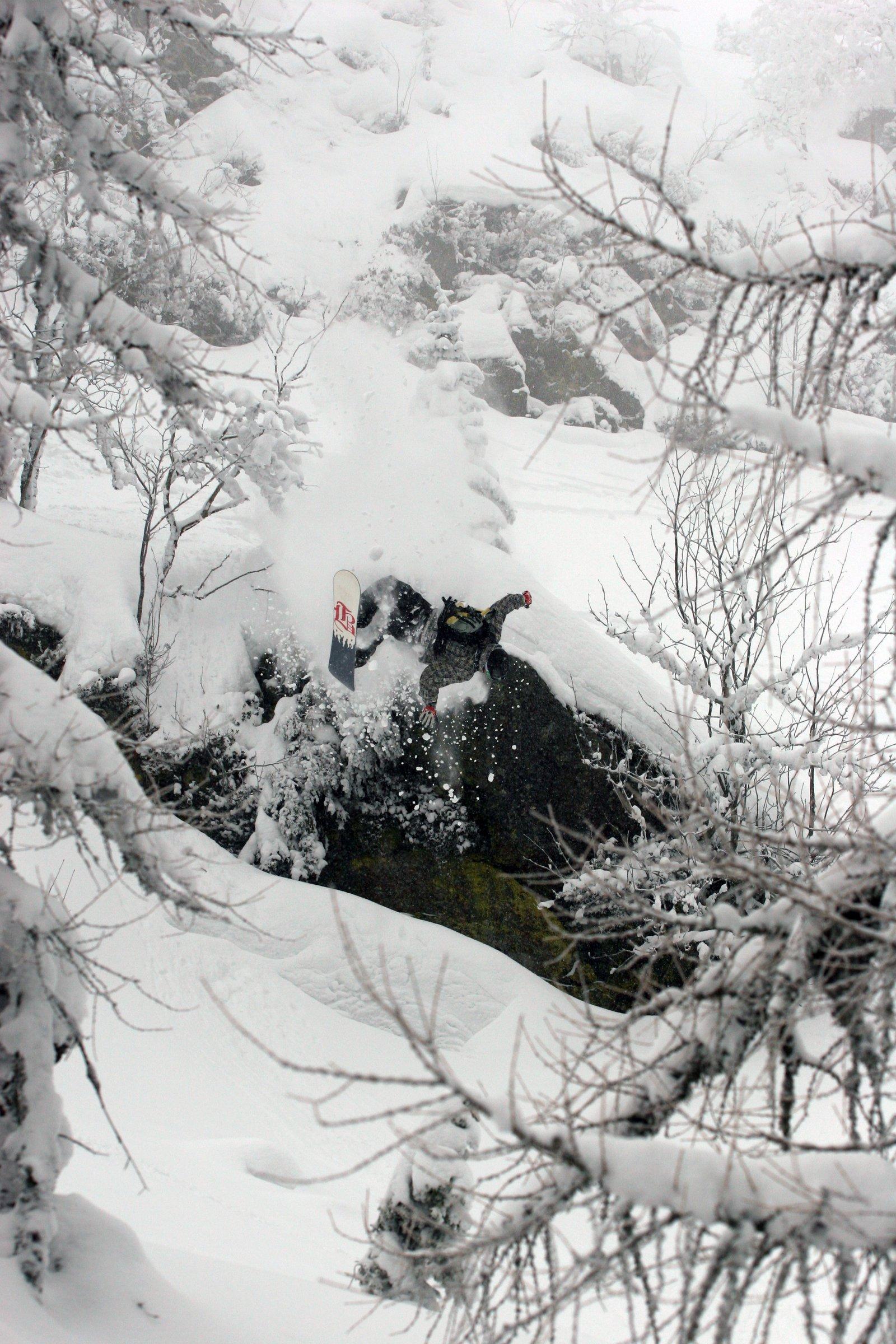 Snowboard sideflip bail