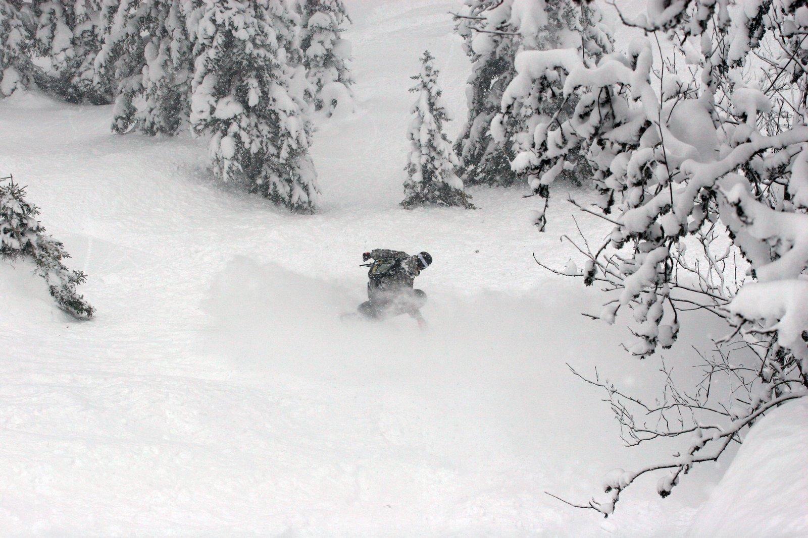 Snowboard turn #2
