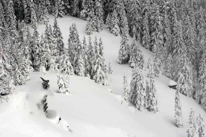 Snowboard drop #1