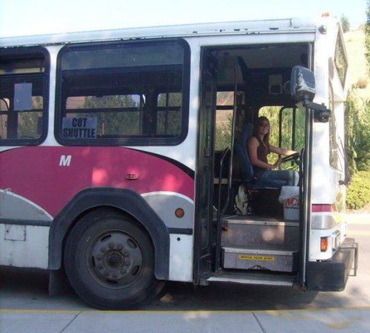 Driving the University Park-N-Ride bus - best job ever!