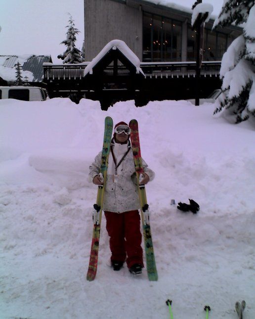 The Pic of me by my skis