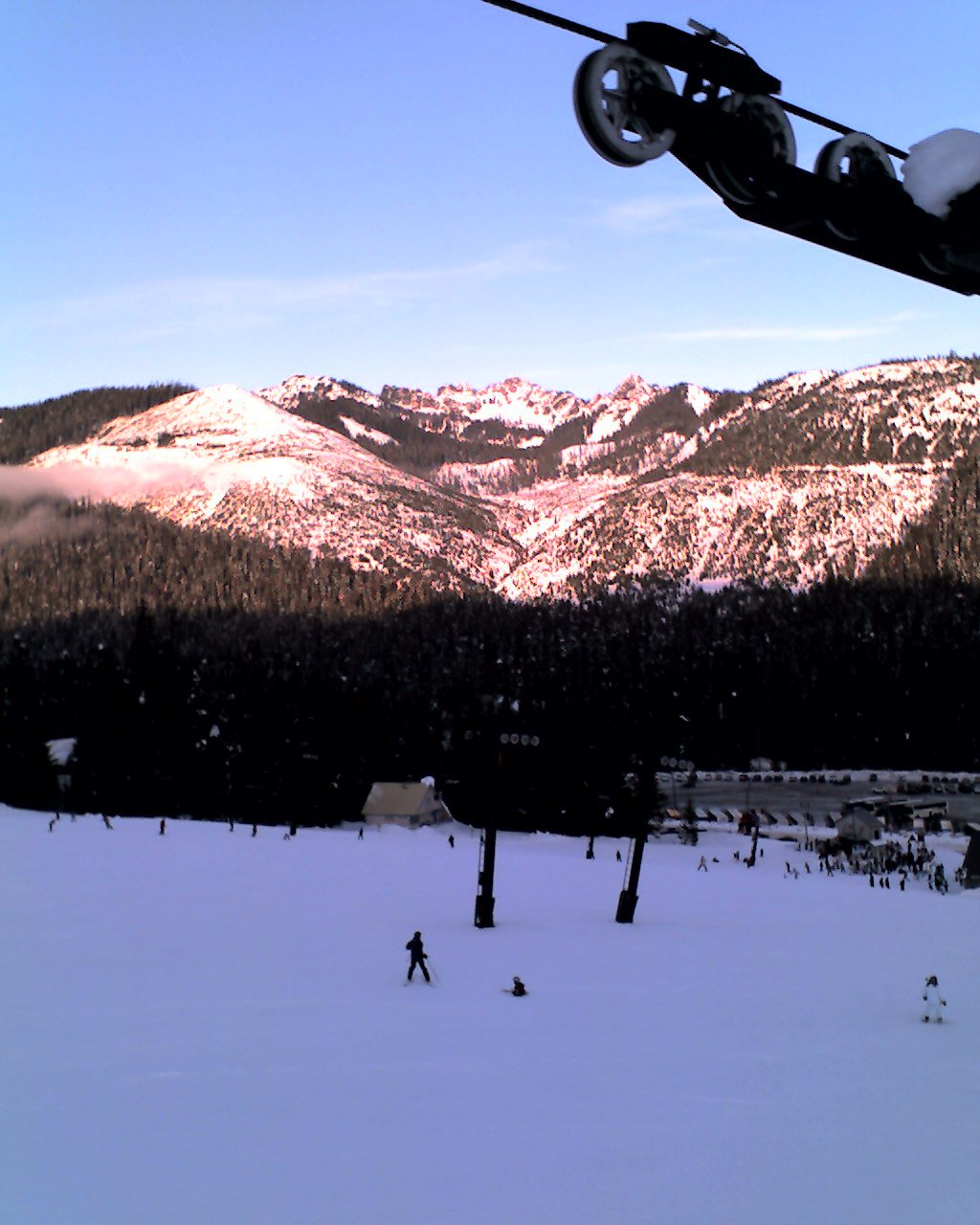 A view of snoqualmie from the lift