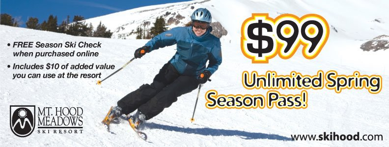 Unlimited Pass for the rest of the season...