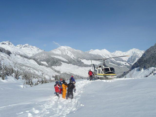 Blue bird heli ski day