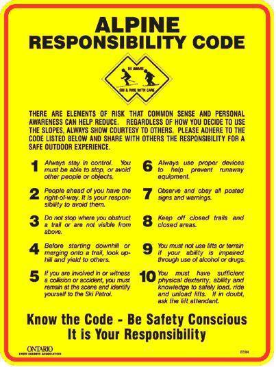 The Skiers Code