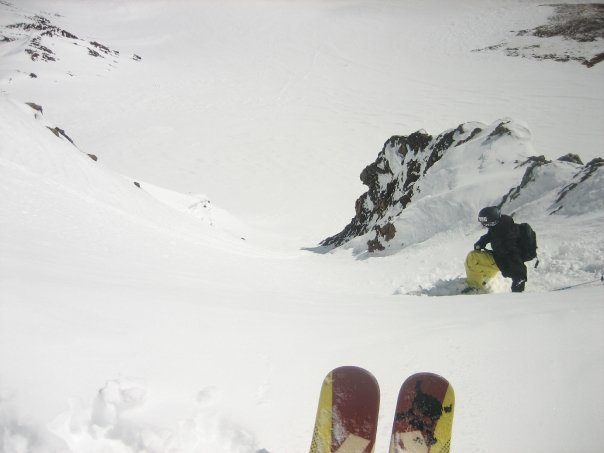 Chute in CB Backcountry