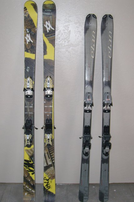 New & old skis