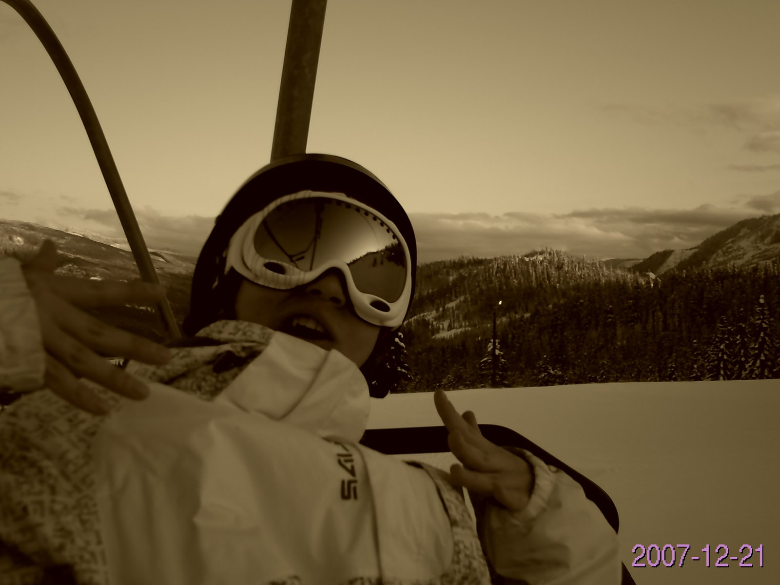 Chillen on the lift