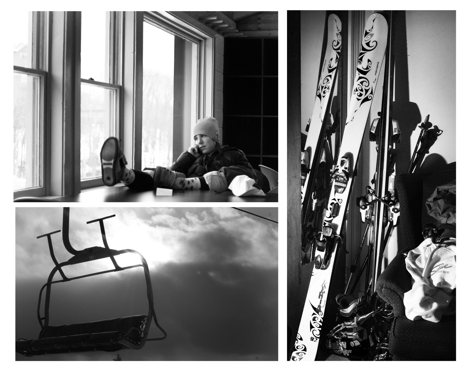 Girl Skis chair