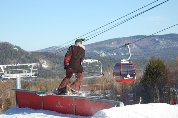 Rail silde picture of me doing a rail slide