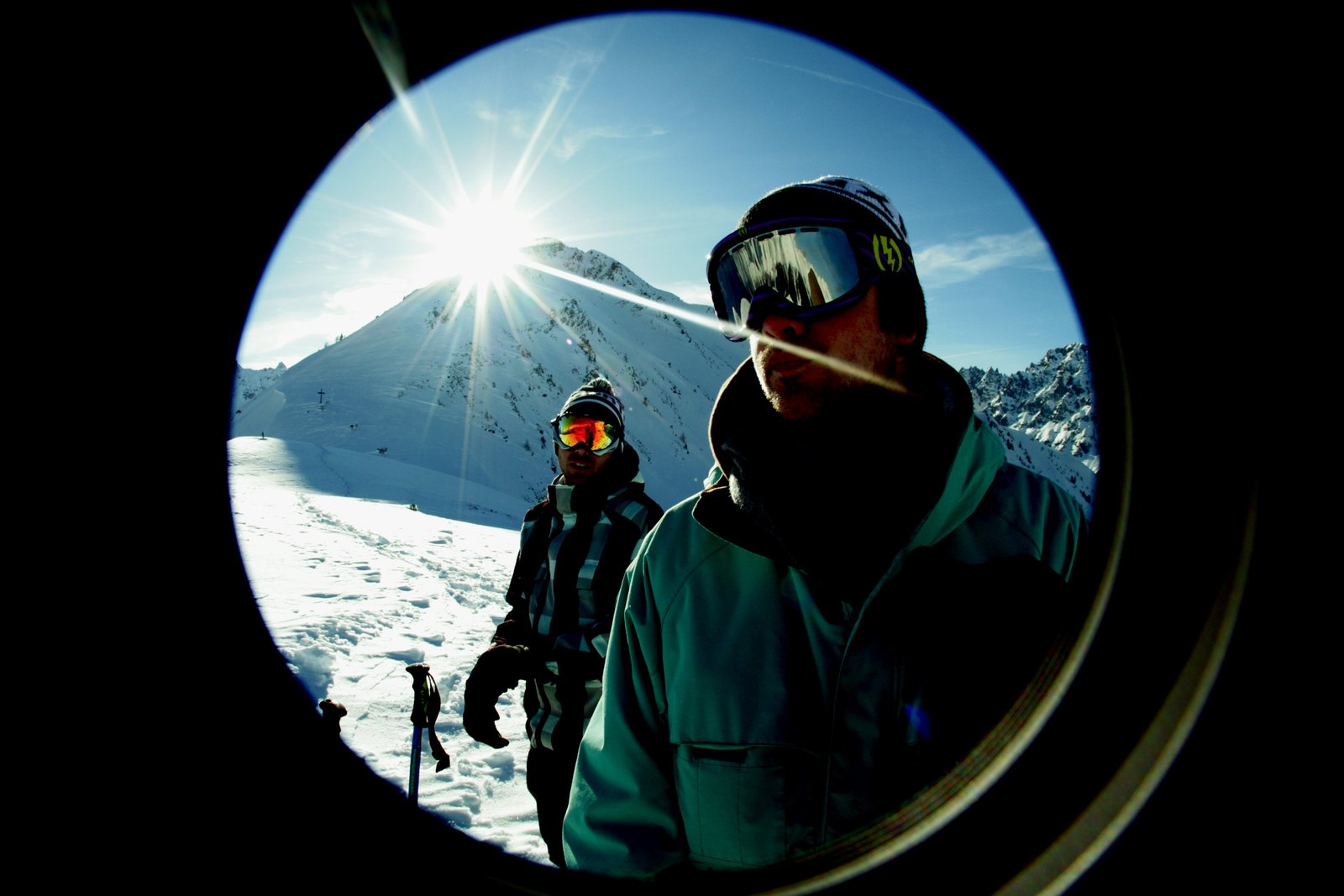 Fisheye mountain