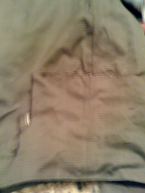Rip on pants (taped but will be sown if i trade them)