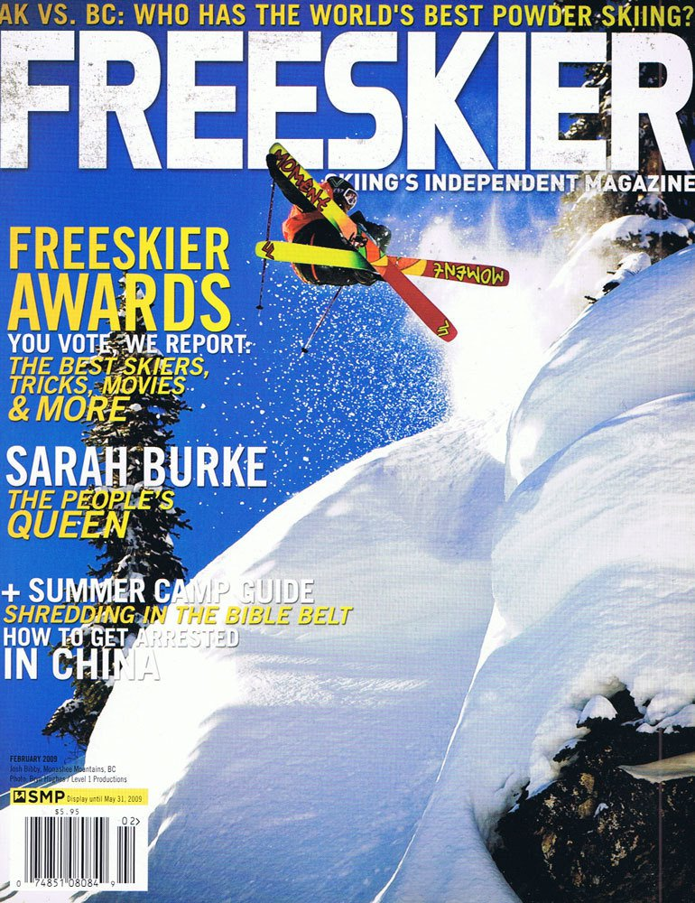 Josh Bibby Freeskier Cover