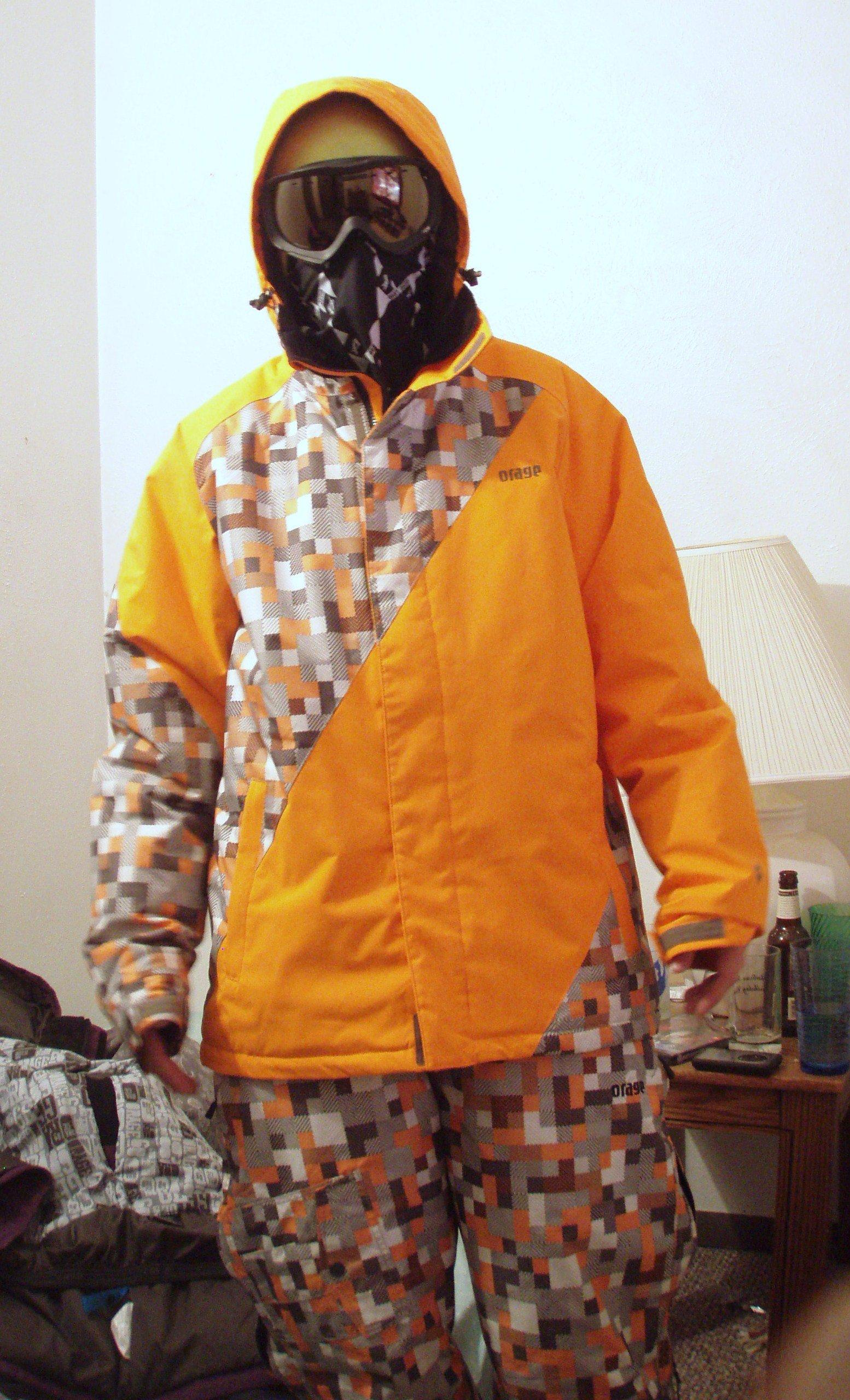 Orange digi suit