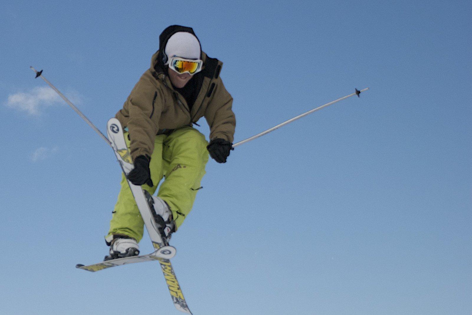 Right before i pulled my ski off