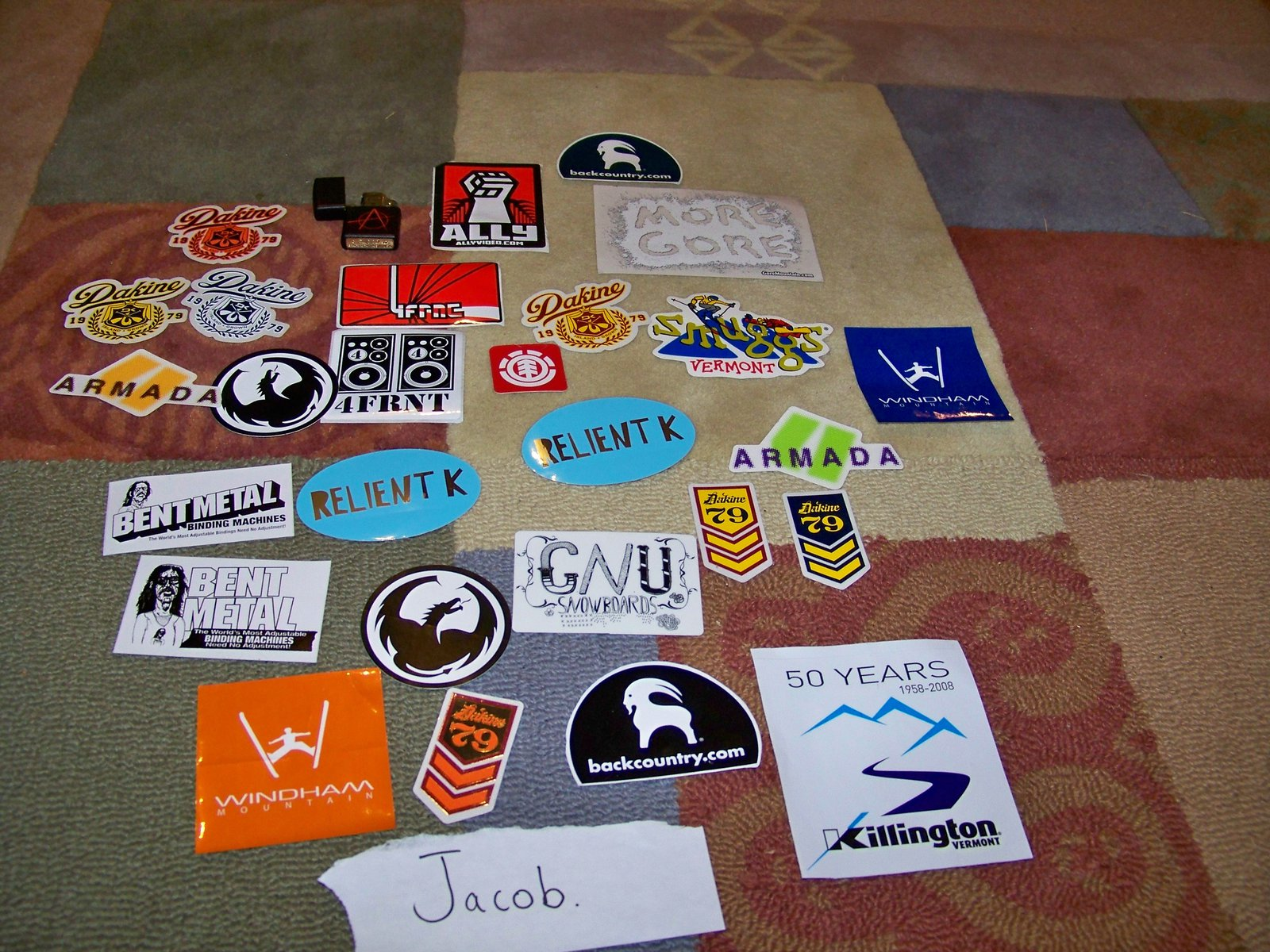 My sticker collection