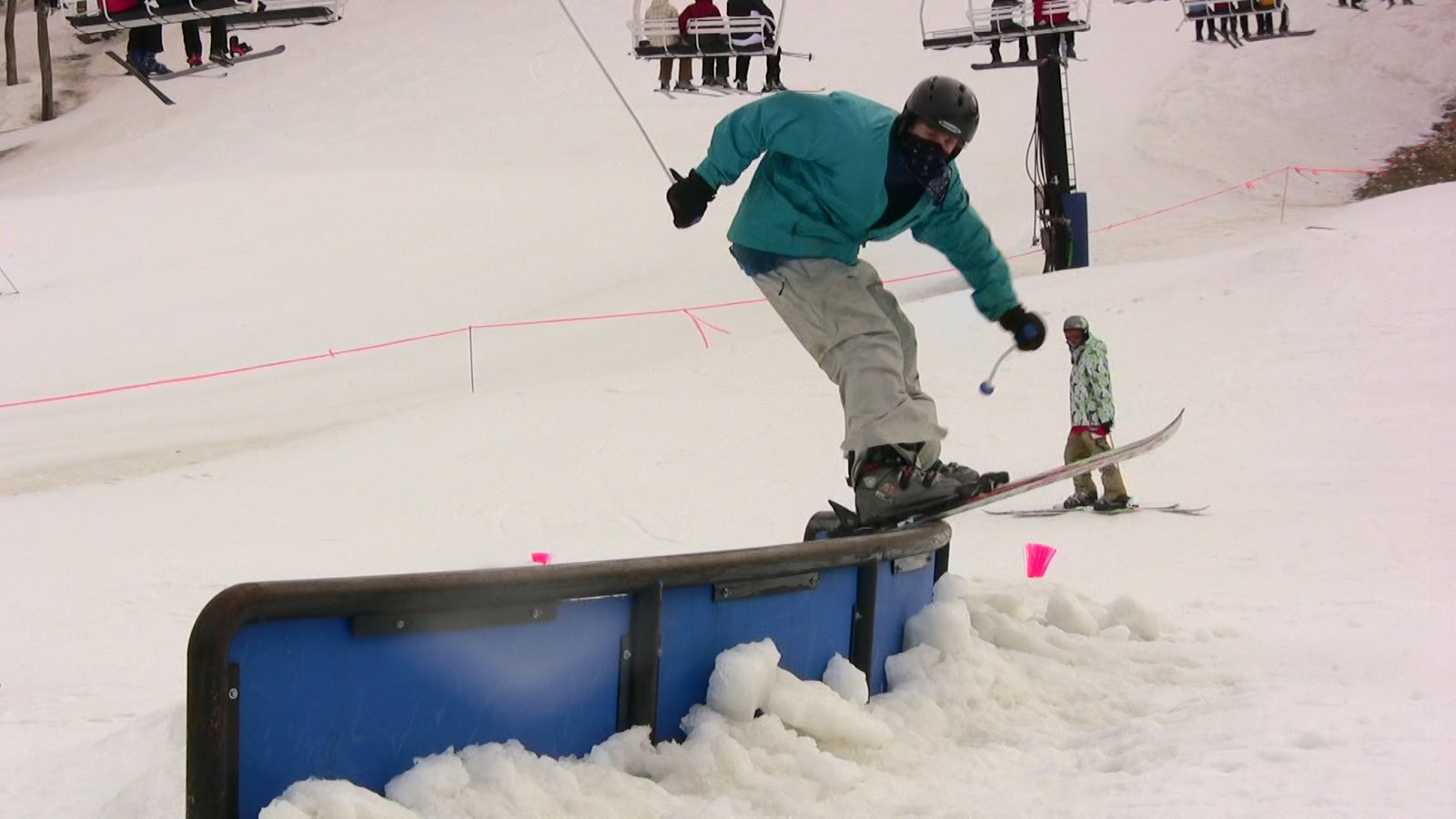 Video still: Sam on c-rail