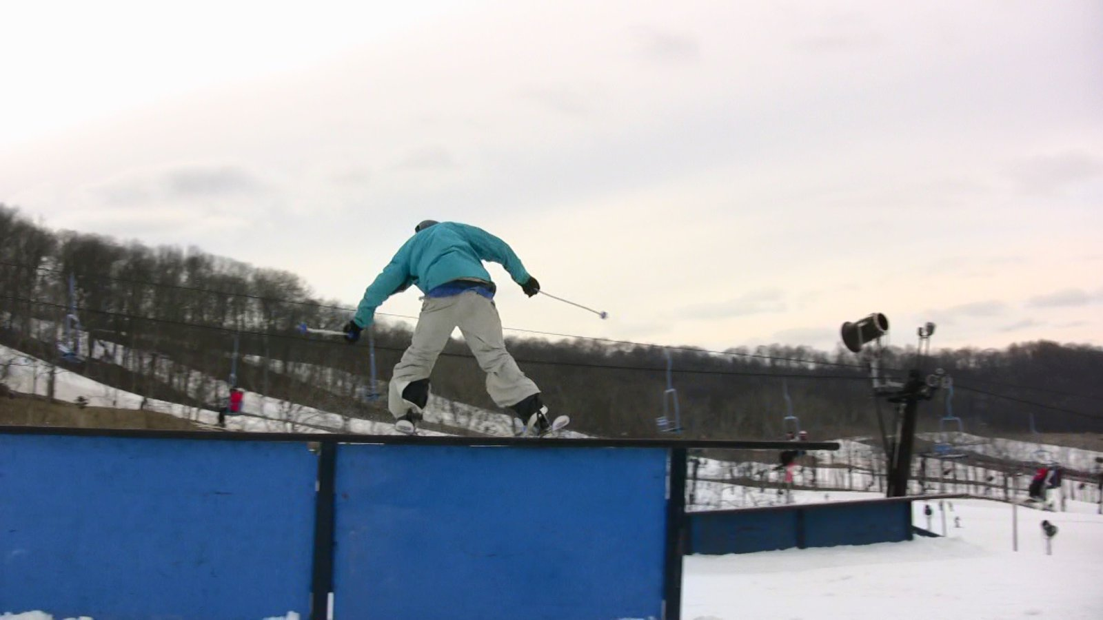Video still: sam on tall-t rail