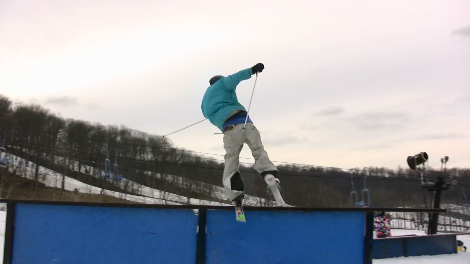 Video still: sam onto tall-t rail
