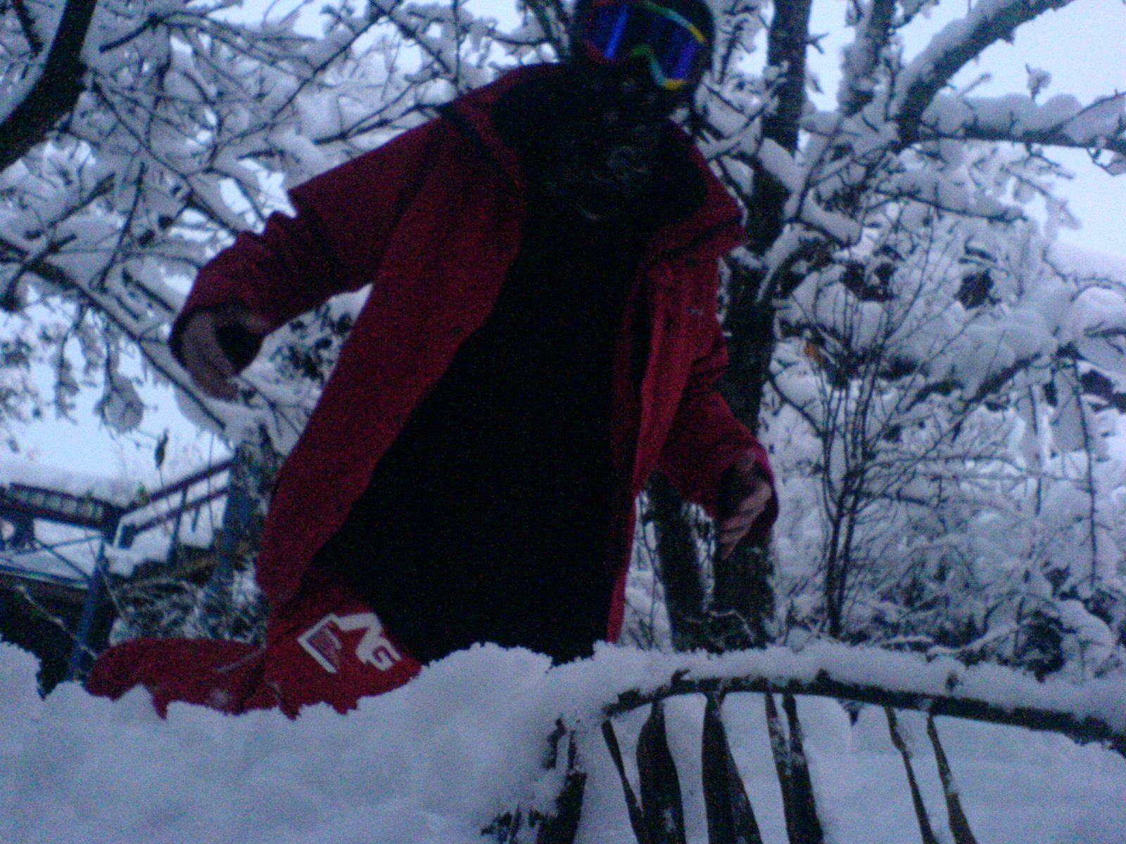 Me playying in the snow