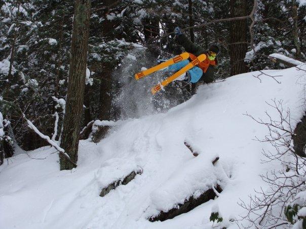 Hand plant in secret ski sundown woods