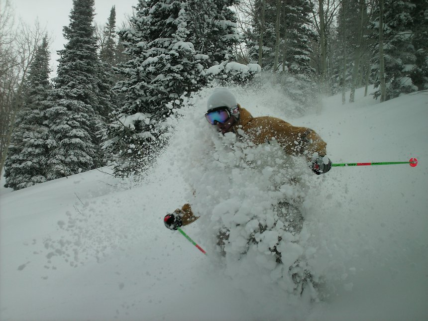 Powder yesterday at snowbasin