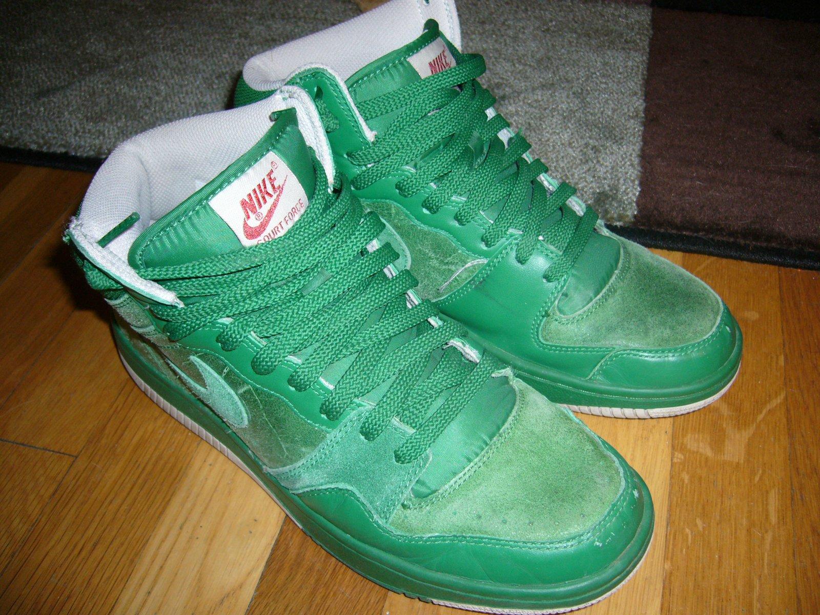 Money Green Nike Court Force Hi