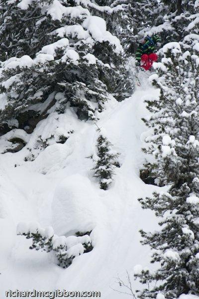 Skye Darden droppin a bomb in the arlberg