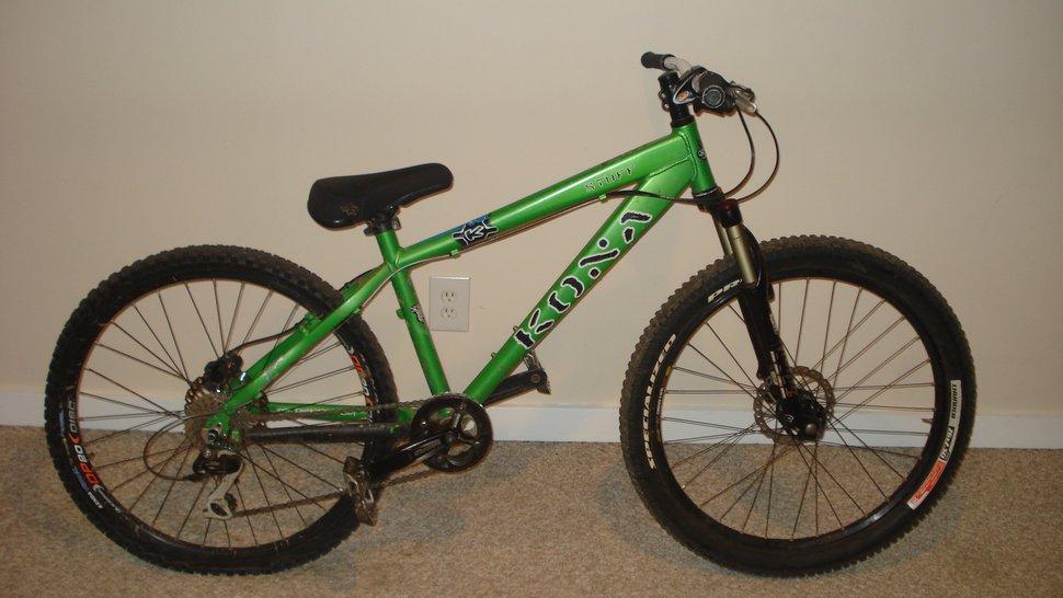 Green kona stuff bike