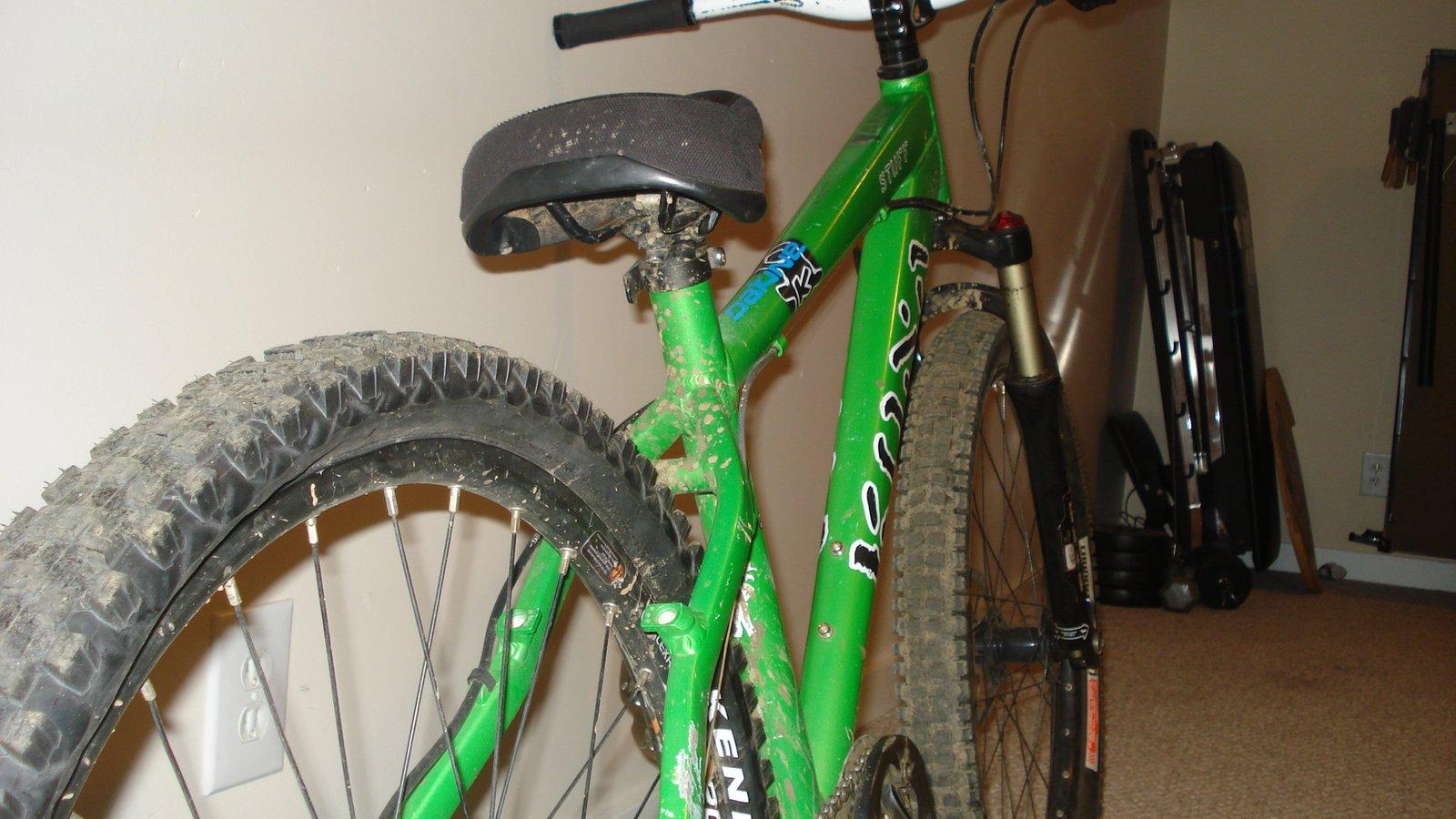 Green kona bike