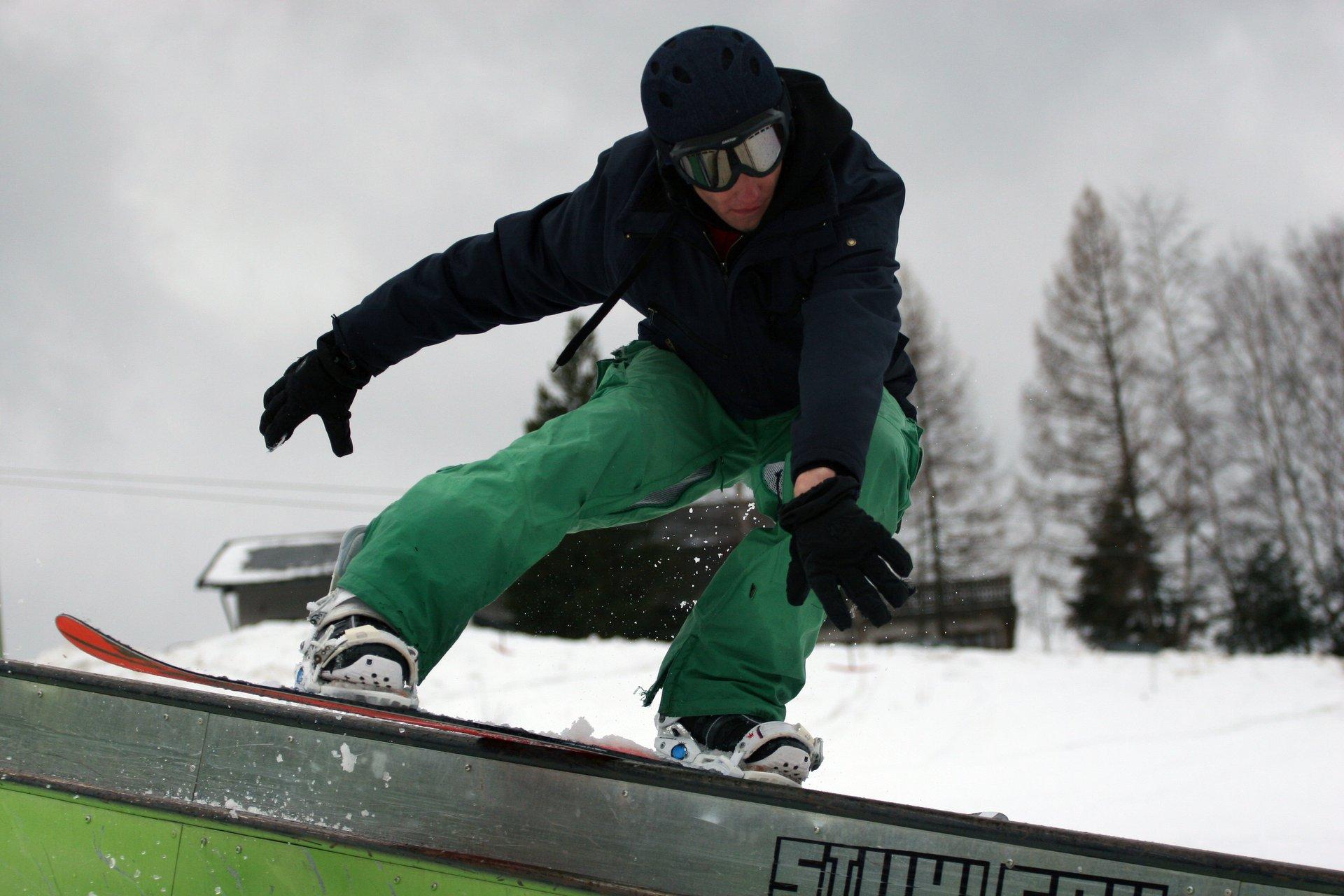 Snowboard bs dub kink