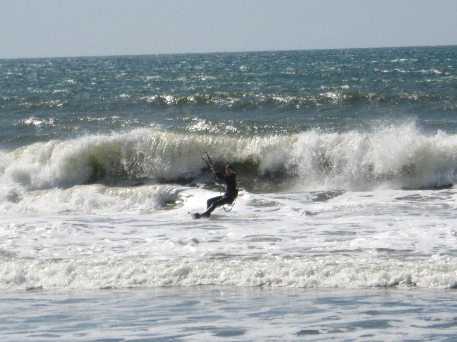 Kiting in the ocean