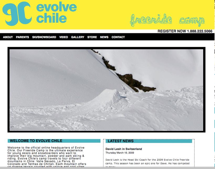 Evolve Chile Drops '09 Site