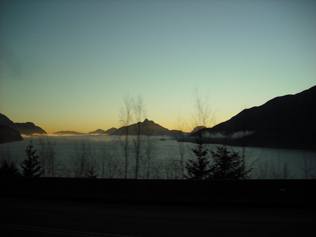 On the road to Whistler