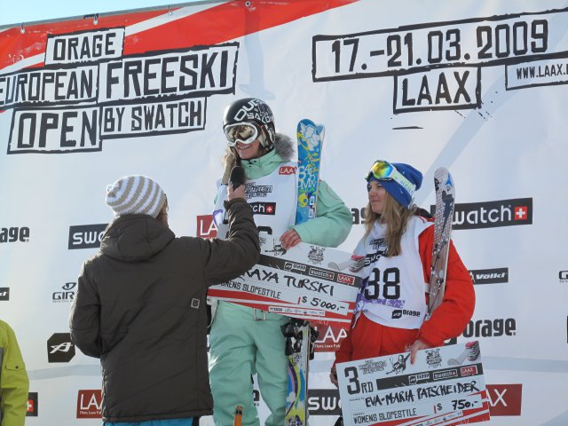 Kaya on Podium