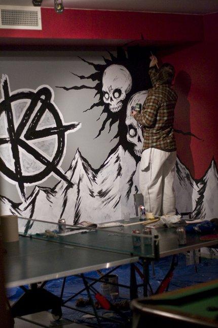 Painting Retallack's Game Room