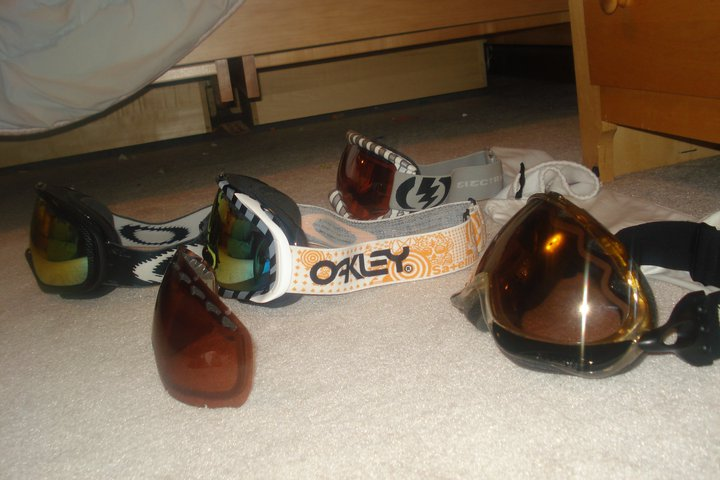 Side view of goggles