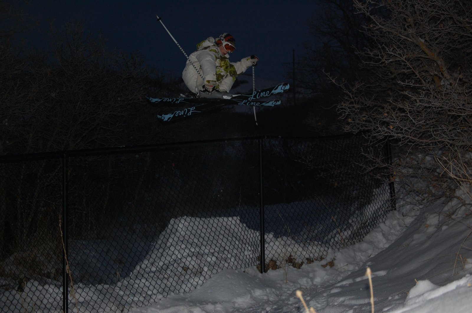 180 over the fence at night