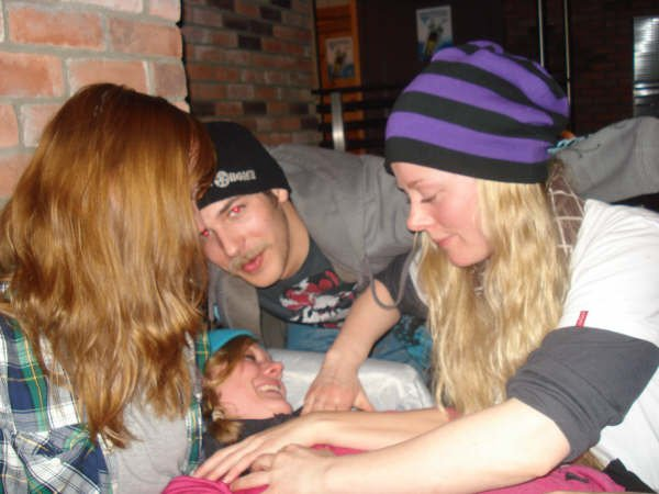Dogpile in the bar in Norway XO's or EDGE bar
