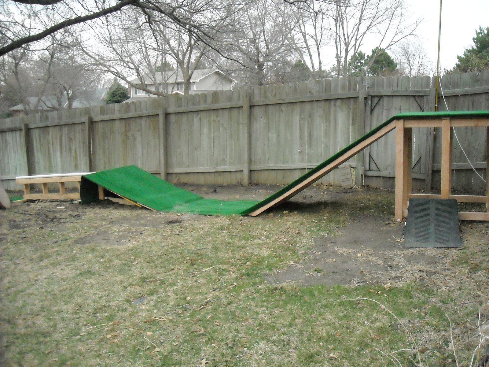 Backyard setup - 1 of 2