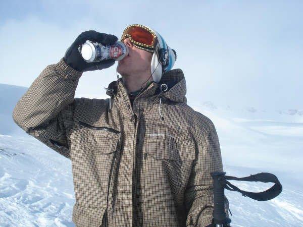BOONE SKIS Norway trip - Norwegian energy drink