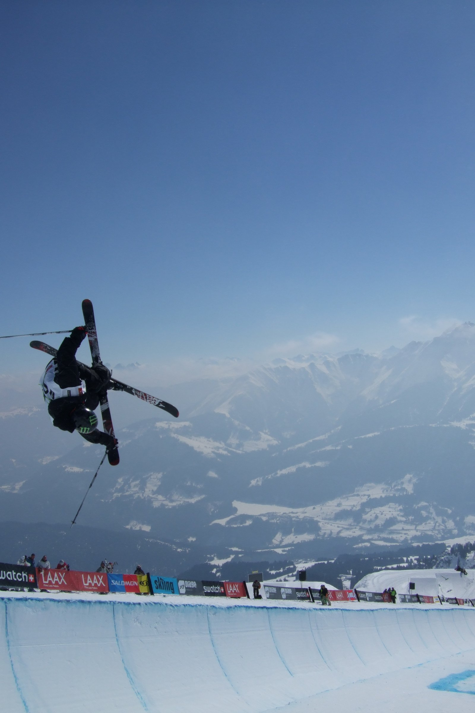 Jossi Wells in the pipe at the Euro Open in Laax, Switzerland