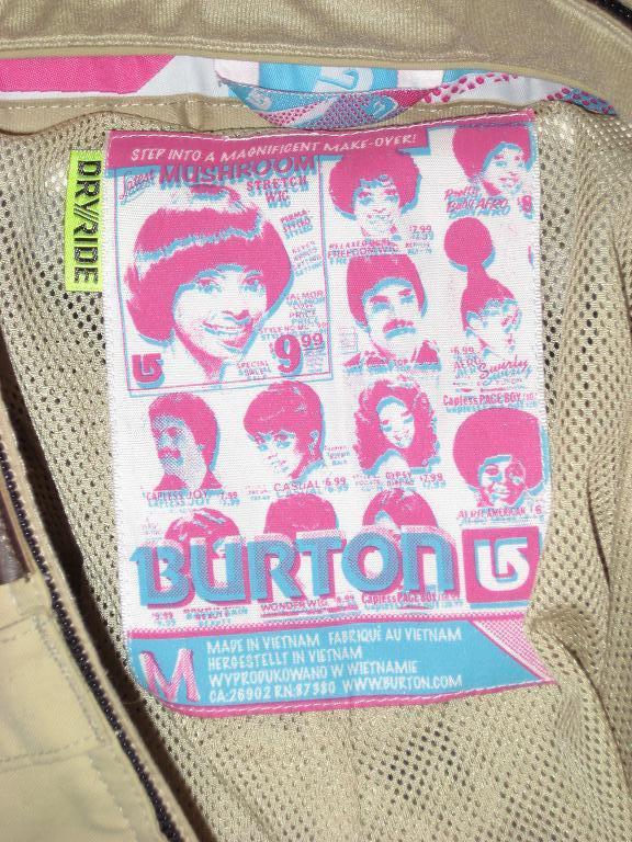 Burton Pants Label