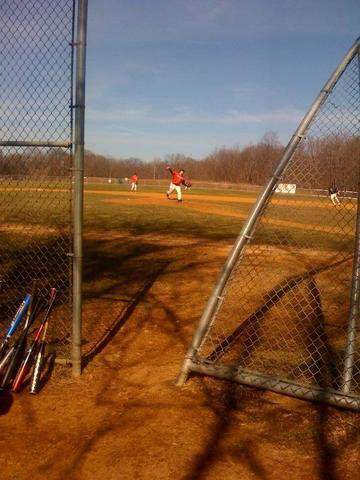 Early season baseball