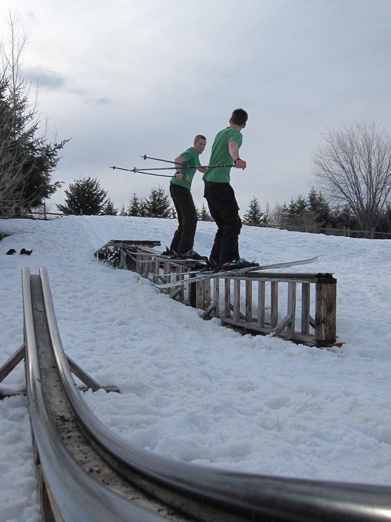 Conversing on the rail