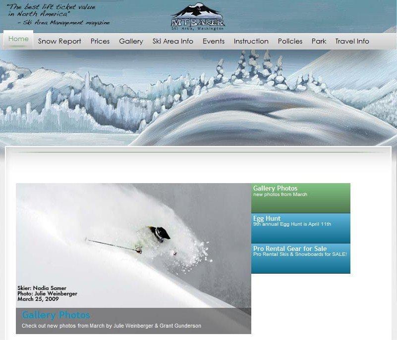 Mt. Baker website!