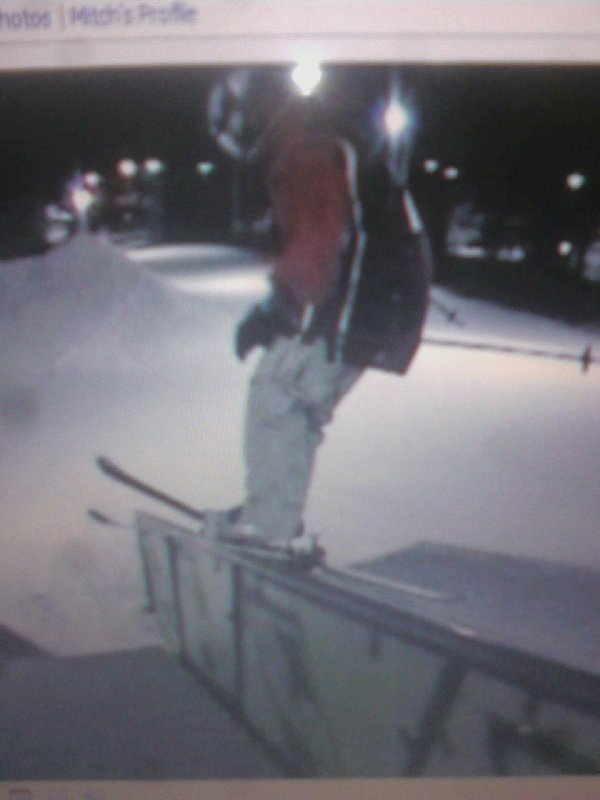 Me on the Hand Rail at pats peak