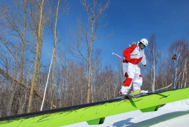 Sping skiing at tremblant